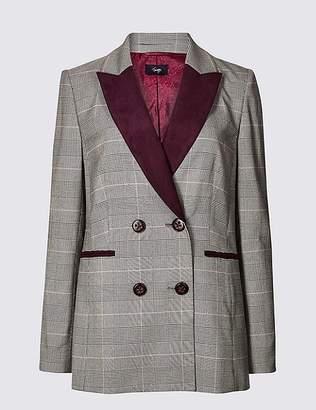 Marks and Spencer Contrast Checked Blazer