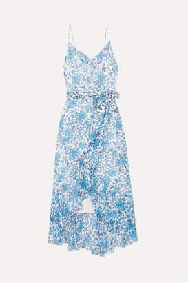 Alice + Olivia Alice Olivia - Tevi Ruffled Printed Georgette Midi Dress - Blue