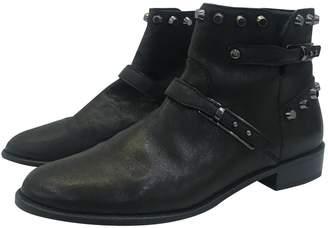 Stuart Weitzman Leather biker boots