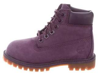 Timberland Girls' Nubuck Ankle Boots