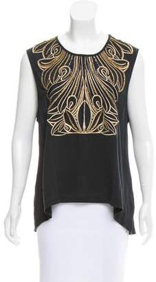 Sass & Bide Embellished Sleeveless Top