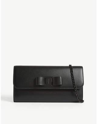 Salvatore Ferragamo Bow leather clutch