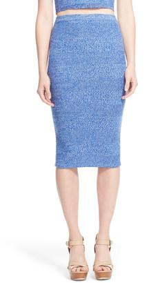 alice + olivia Morena Merino Wool Knit Pencil Skirt $245 thestylecure.com