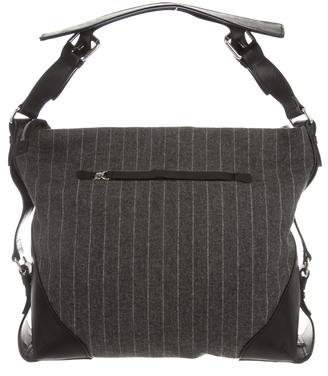 Tumi Leather-Trimmed Wool Bag