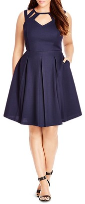 City Chic Cutout Fit and Flare Dress $89 thestylecure.com