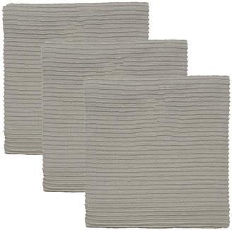 Asstd National Brand Turkish Set of 3 Cotton Ripple Kitchen Towels