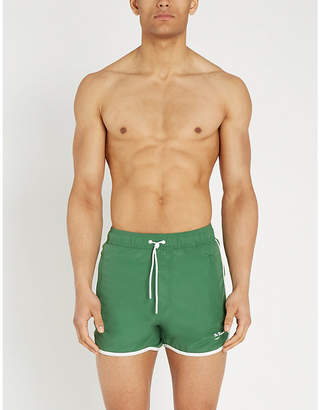 90ce27d717ca8 The Kooples Contrast-trim mesh-lined swim shorts
