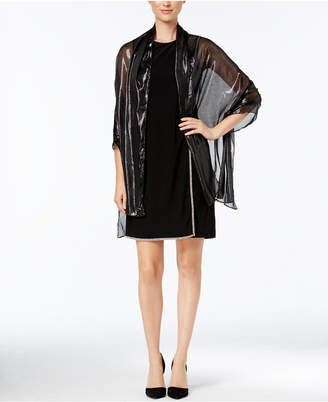 Calvin Klein Liquid Metallic Evening Wrap $40 thestylecure.com