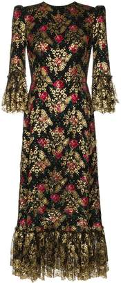 The Vampire's Wife Wild Rose midi dress
