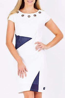 Smash Wear NEW Womens Short Dresses Crinita Dress White