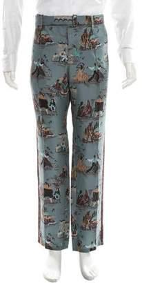 Valentino Silk Printed Pants w/ Tags