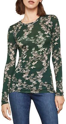 BCBGMAXAZRIA Floral Printed Long Sleeve Tee