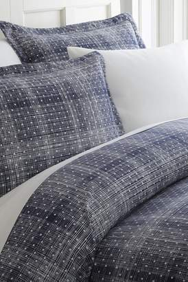 IENJOY HOME Home Spun Premium Ultra Soft Polka Dot Pattern 3-Piece Duvet Cover King Set - Navy