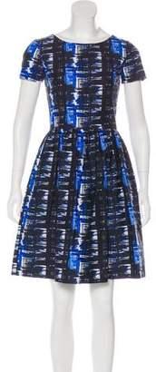 Oscar de la Renta 2016 Watercolor Print Dress