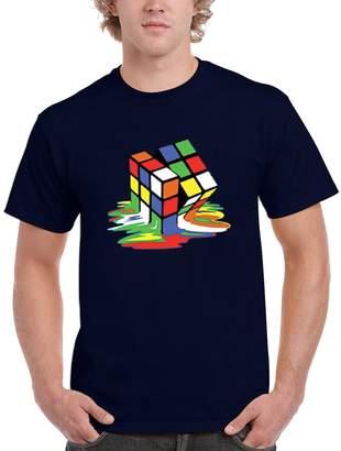 Theory NineTeen Big Bang Melting Rubik's Cube Mens T-Shirt (M, )