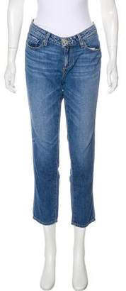 Paige Denim Jimmy Jimmy Crop Mid-Rise Jeans