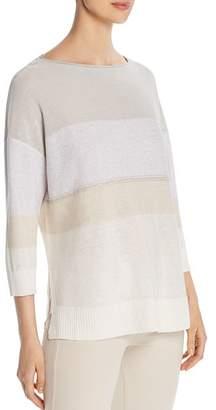 Lafayette 148 New York Embellished Lightweight Sweater