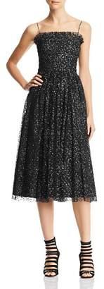 Aidan Mattox Metallic Embroidered Dress