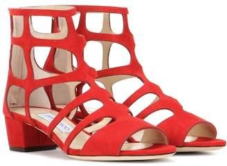Jimmy Choo Ren 35 suede sandals
