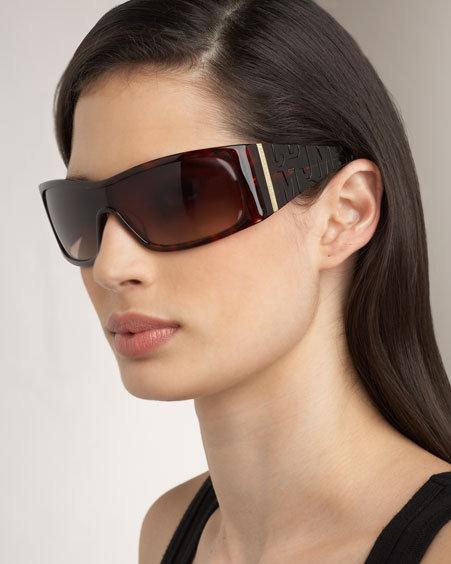MARC by Marc Jacobs Logo Shield Sunglasses