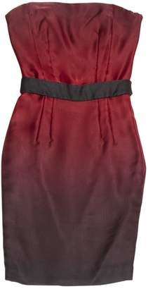 Maxime Simoens Burgundy Silk Dress for Women