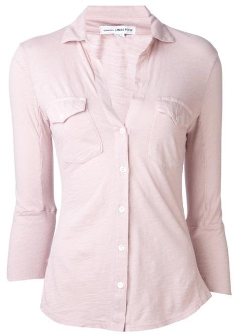 James Perse Standard Contrast Panel Shirt