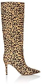 Gianvito Rossi Women's Hunter Leopard-Print Calf Hair Knee Boots - Lt. brown