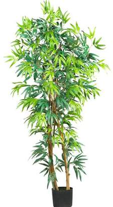 Nearly Natural Curved Bamboo Tree in Pot
