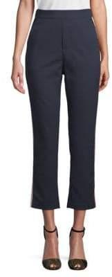 Cropped Side Stripe Trousers