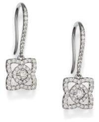 De Beers Enchanted Lotus Diamond & 18K White Gold Drop Earrings