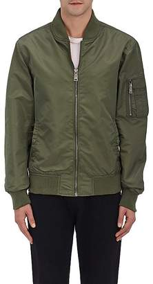 Schott NYC Perfecto Brand by PERFECTO BRAND BY MEN'S LOGO-EMBROIDERED TECH-SATIN MA-1 FLIGHT JACKET