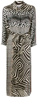 Pierre Louis Mascia Pierre-Louis Mascia mixed animal print dress