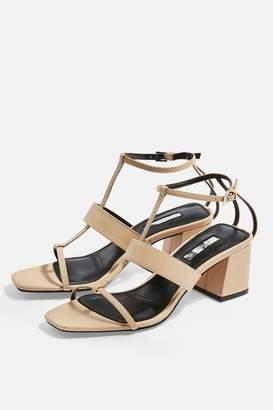 dc7b550fa0 Topshop Womens Ribbon T-Bar Sandals - Nude