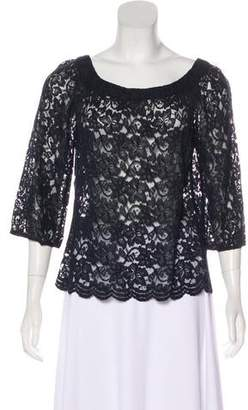 Diane von Furstenberg Long Sleeve Lace Top