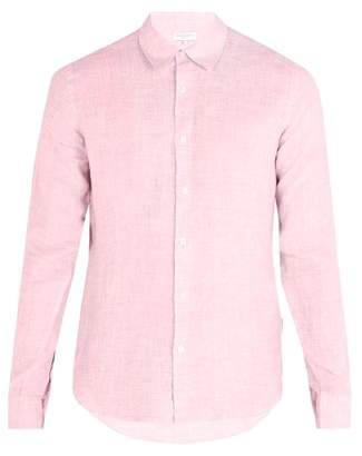 Orlebar Brown Morton Tailored Linen Shirt - Mens - Pink