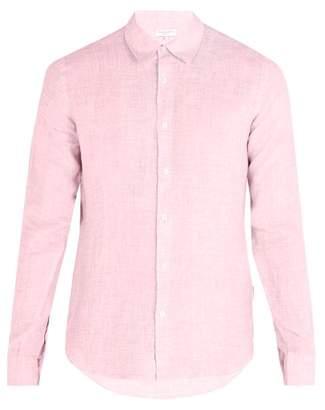 Orlebar Brown Morton Linen Shirt - Mens - Pink