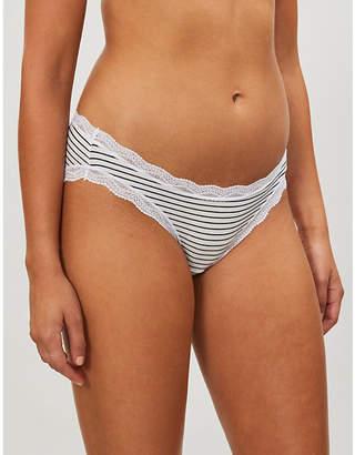 STRIPE & STARE Falling star low-rise stretch-modal bikini briefs