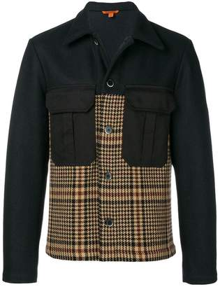 Barena checked panelled jacket
