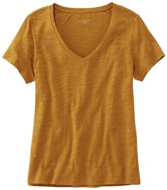L.L. Bean L.L.Bean Women's Signature Essential Knit Tee, Short Sleeve V-Neck