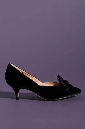 Anthropologie Verona Velvet Bow Heels