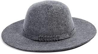 Fashionable Jeff & Aimy Ladies 100% Wool Felt Porkpie Hat Fedora Church Top Hats for Women Derby Party Brim Grey