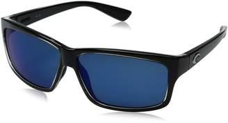 Costa del Mar Unisex-Adult Cut UT 47 OBMP Polarized Iridium Rectangular Sunglasses, Squall