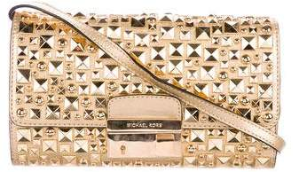 Michael Kors Studded Gia Clutch - GOLD - STYLE