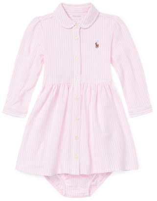 Ralph Lauren Striped Cotton Mesh Polo Dress