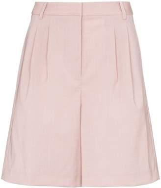 Tibi stretch-wool pleated shorts