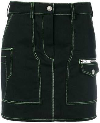 Courreges contrast seam denim skirt