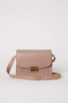 H&M Leather Shoulder Bag - Beige