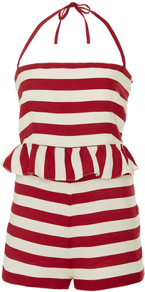 Red Valentino Striped Jumpsuit $595 thestylecure.com
