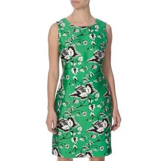 Green Wool/Silk Blend Sofia Dress