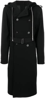 Rick Owens hooded double-breasted coat